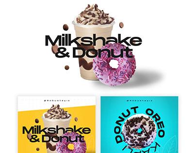 Social Media & Bilboard - Donut & Milkshake