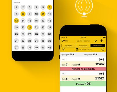 App design | Loteria # lottery #christmas #ui