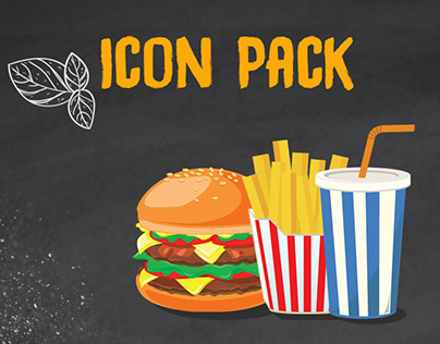 Line Illustrations and Icons - 10 Fast Food Icons
