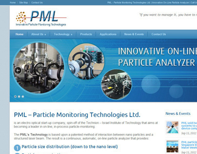 Website for PML company