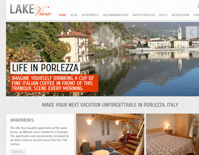 Website for LakeViewItaly