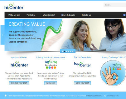 Corporative Website for hiCenter