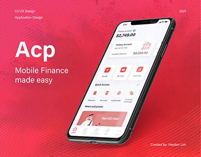 ACP Banking Product UI/UX Design (Mobile App)