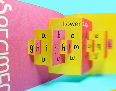 PAVECK Typography Pop Up Book