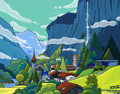 Switzerland illustrations