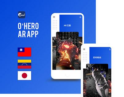 O'Hero 國際職棒AR App International baseball AR app design