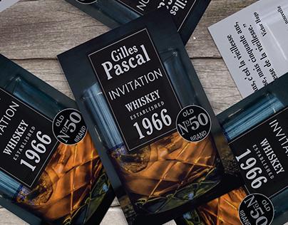 Invitation card Whisky