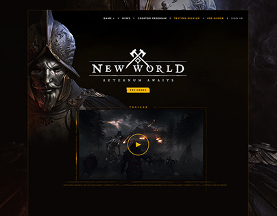 PROJECT / New World Landing Page