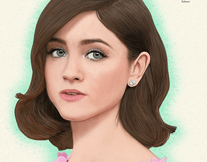 Natalia Dyer Portrait Art