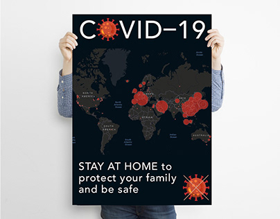 "Covid-19 Poster – ""STAY AT HOME"""