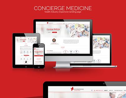 CONCIERGE MEDICINE - Responsive landing page