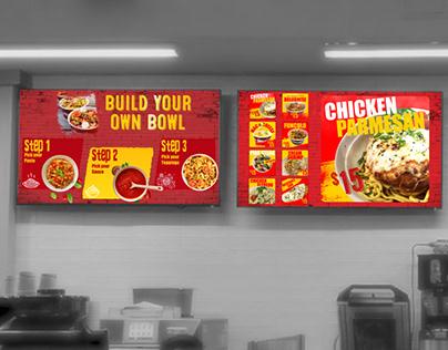 Funculo Restaurant Digital Menu Board Animation