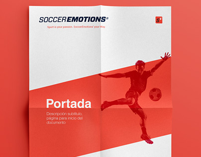 SoccerEmotions project. Graphic and web design
