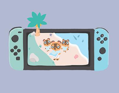 Animal Crossing Switch Edition Illustration