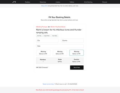 Artist Booking Flow - Skillbox