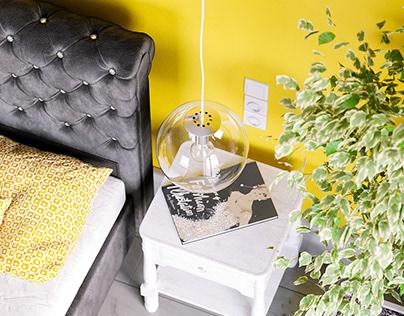 Yellow Bedroom CGI
