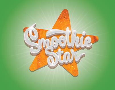 Logo to smoothie star, a smoothie bar
