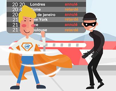 Motion design Super héros