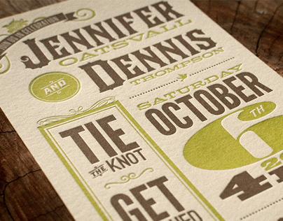 Wedding Invitations - Dennis & Jennifer