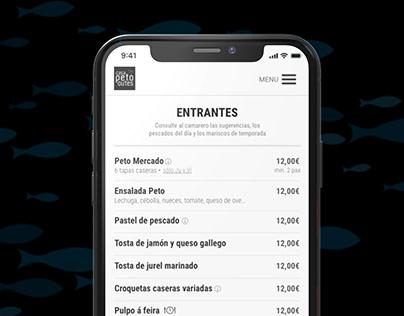 Hostelry online menu