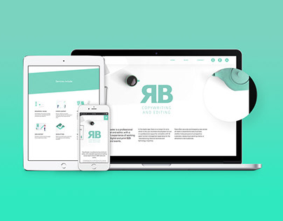 RB copywriting and editing website and branding design