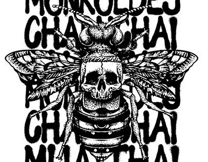 Charnchai Muay Thai Grunge T-shirt Print Design
