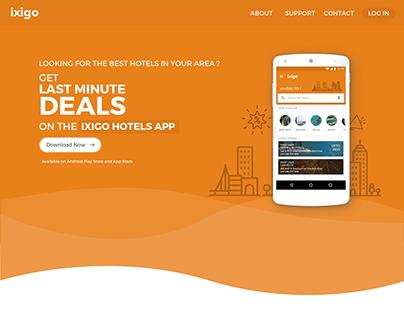 ixigo Hotels Website - One Stop for your Travel Needs