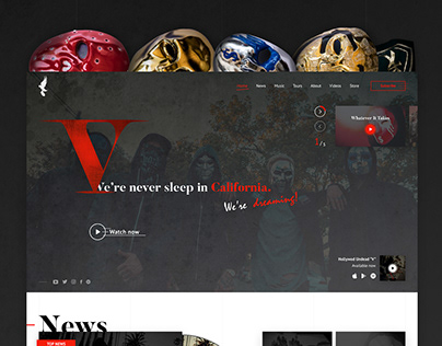 Hollywood Undead - Website Concept