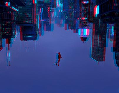 Spider-Man Glitch Art examples