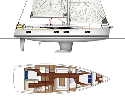 Yacht illustrations