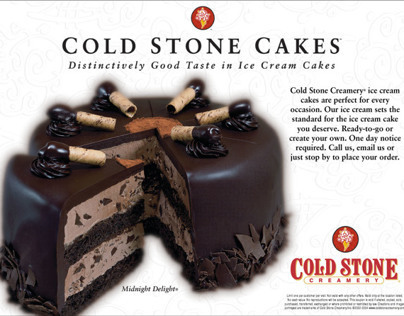 Cold Stone Creamery franchisee ads