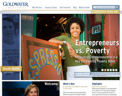 Goldwater Institute website redesign