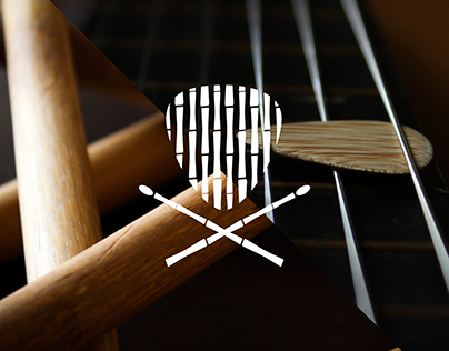 Bamboo Guitar Pick and Drumstick