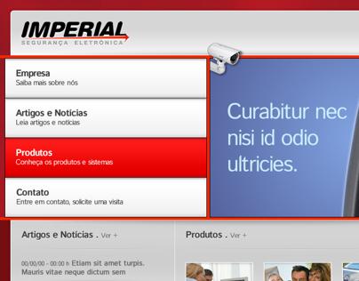 IMPERIAL Segurança Eletrônica . Logotipo e site