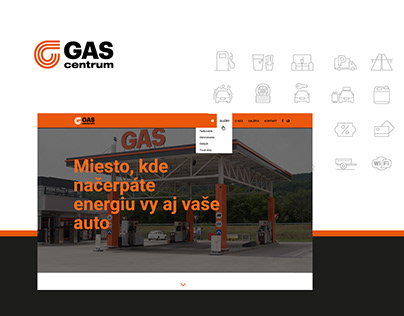 GASpuchov.sk - webdesign for a gas station complex