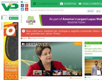 RondôniaVip . Conceito de id. visual e layout para site