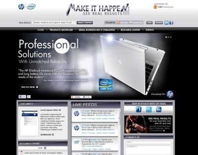 HP & Intel Make IT Happen - Website