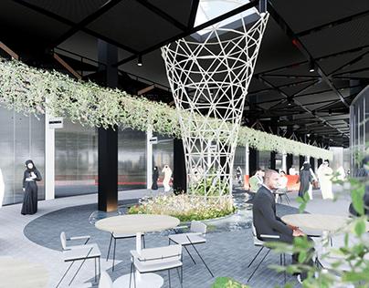 Retail to Restaurants conversion redevelopment -Archviz