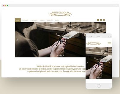 White & Gold - website