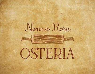 Identidade Visual Nonna Rosa Osteria