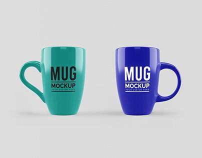 Free Ceramic Mug Mockup PSD