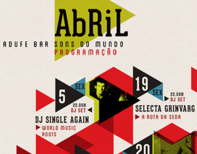 Cartaz Abril | Adufe Bar