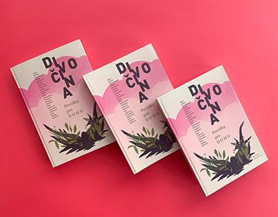 Divočina book cover and illustrations