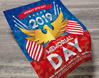 Memorial Day Free Flyer PSD Template