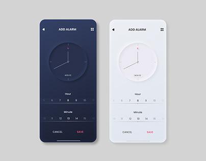 Alarm UI / UX Design
