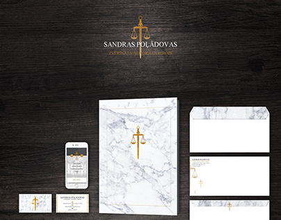 Lawyer office corporate identity design