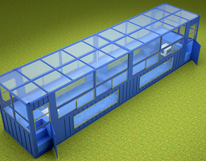 40ft Swimming Pool Container Design with Roof