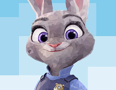 Judy Hopps – Low Poly