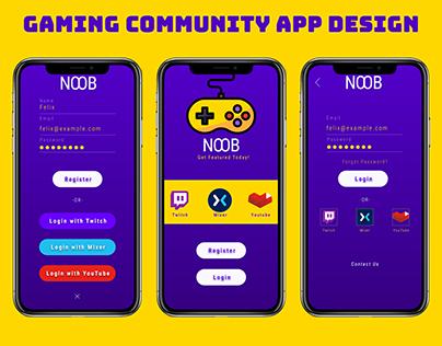 Gaming Community App Signup Design using Adobe XD