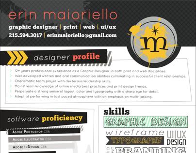 Erin Maioriello 2013 Resume/CV